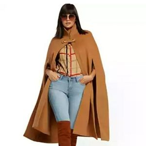 New York & Company Camel Colored Long Cape